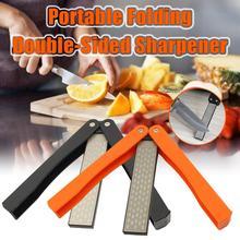 Outdoor Quick sharpener ( tungsten diamond and ceramic ) Double-sided folding home kitchen tool точилка для ножей