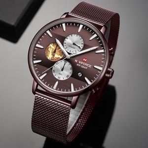 Image 3 - NAVIFORCE Top Luxury Brand Mens Business Quartz Watch Men Stainless Steel Waterproof Mens Watches Chronograph Date Male Clock