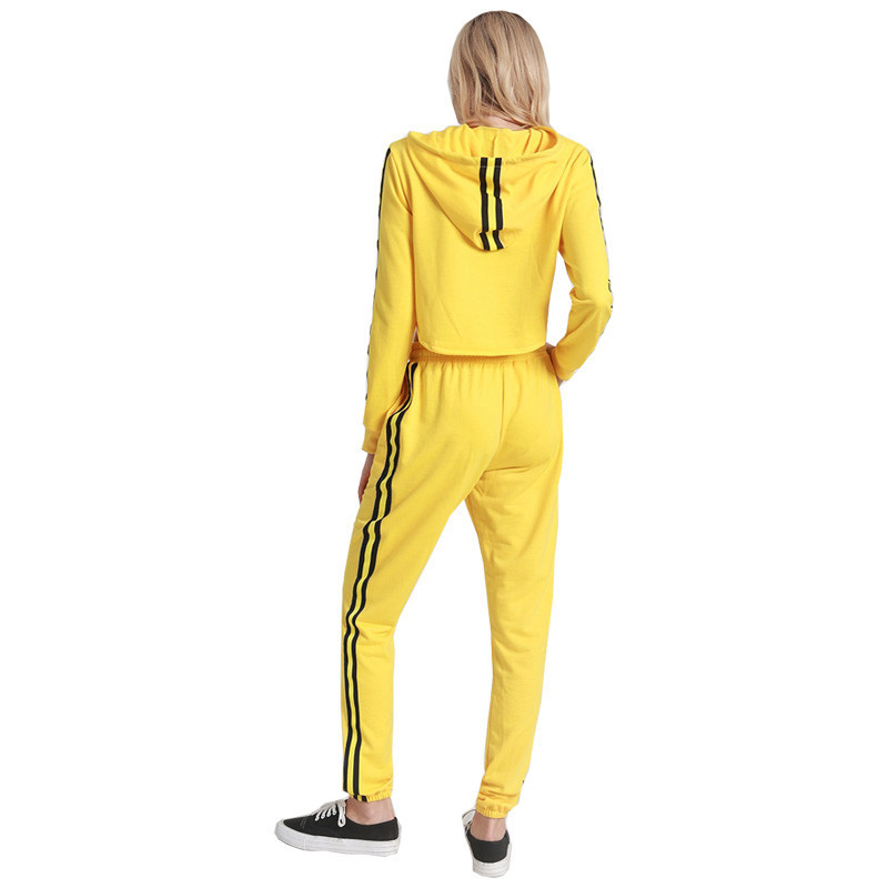 Lke8044 New Style Europe And America WOMEN'S Dress Hot Selling Supply Of Goods Solid Color Webbing Sports Two-Piece Set