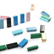 Multicolor Enamel Tile Accessories Beads Kit Box Rainbow Stackable Tile Bracelet