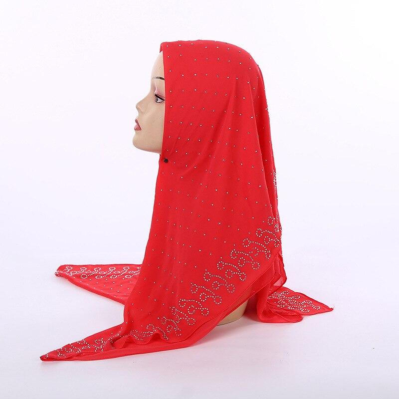 Image 5 - Nueva bufanda cuadrada musulmana de chifón perla de estilo  nacional 105*105cm bufanda de moda para mujer con cuentas al por  mayorRopa islámica