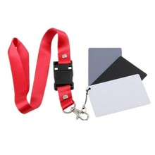 Портативная Цифровая карта с балансом цветов 18, серая карта 3 в 1, черная, серая, белая, трехцветная карта с шейным ободом для фотостудии