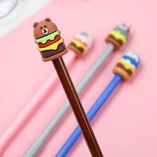 1 Piece Stationery Cartoon Cute Animals Pen Creative School Office Supply Handles Gel Pens gift Totoro Bunny Bear