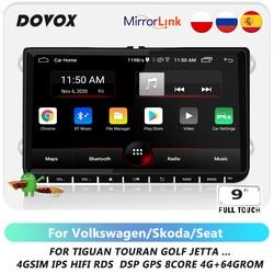 Автомагнитола 2 Din на Android для VW/Volkswagen/Golf 5 6/Jetta 5 6, автомобильный мультимедийный видеоплеер с GPS-навигацией RDS DSP 4G 2din без dvd