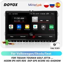 DOVOX 2din Android Cho VW Volkswagen Golf 5 Skoda Octavia 2 Caddy Phát Thanh Xe Hơi GPS 2Din Tự Động Đa Phương Tiện Điều Hướng 2 Din DVD