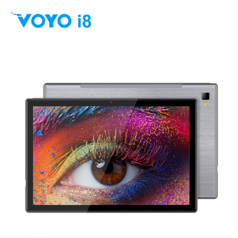 VOYO i8 Tablets 10.1 Inch Android Tablet PC 2in1 with keyboard Duad core Processor SIM 4G LTE Phone Call 4GB RAM 64GB SSD Tablet