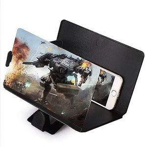 3D Phone Screen Magnifier Amplifying Desktop Foldable Leather Bracket Mobile Phone Holder Tablet Holder Screen HD Amplifier