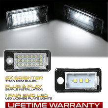 2pcs Canbus Nenhum Erro LED número da placa da lâmpada traseira para Audi Audi A3 8P S4 A4 B6 B7 RS4 A5 8F A6 C6 RS6 A8 S8 Q7 4L auto luzes