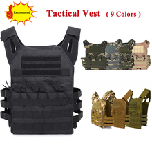 цена на Tactical JPC Vest Airsoft Paintball Molle Vest Military Army Protective Plate Carrier Multicam Combat Vest Body Armor