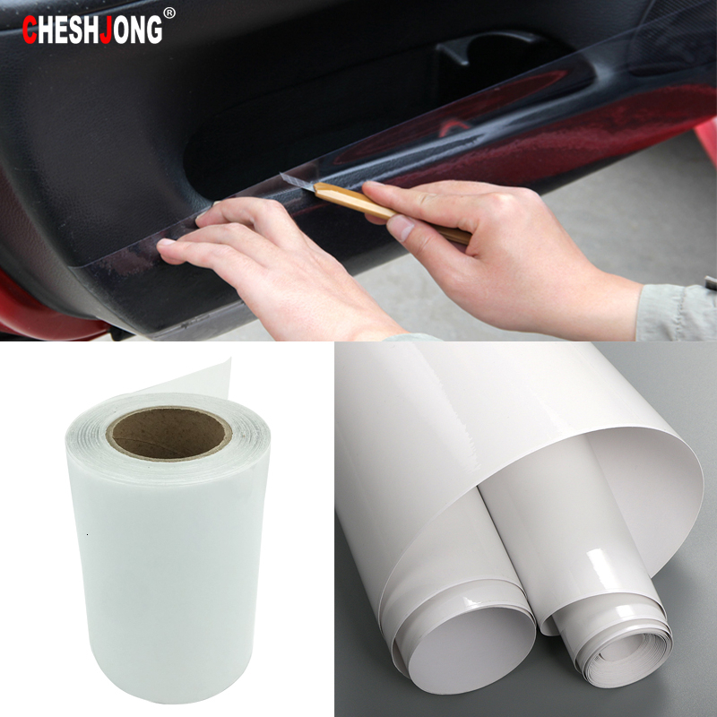 20/30cm*1m Car Protective Film Rhino Skin Sticker Car Bumper Hood Paint Protection PVC Vinyl Clear Transparence Film Thickness