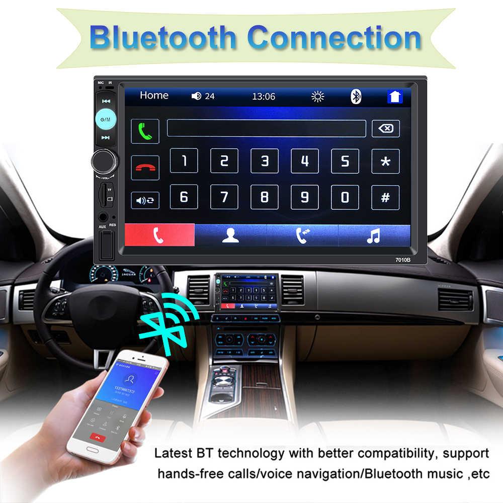 """2 Din カーラジオフル Hd 7 """"タッチスクリーン Bluetooth ステレオ MP5 プレーヤー Autoradio ミラーリンクリアビューカメラ中央 Multimidia"""