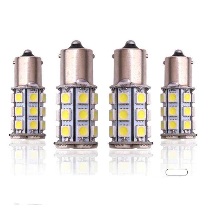 4 pièces 5050 1156 BA15S 27SMD ampoule LED blanche Lampe P21w R5W R10W 1157 ampoule LED Clignotant Feux de Recul de Voiture de Stationnement de Queue
