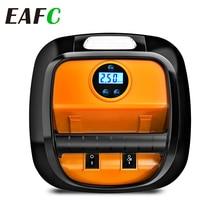 EAFC Portable Car Air Pump 12V Automobile Tire Fast Inflator Mini Electric Auto for Car