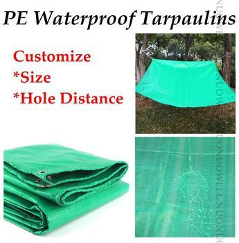 Dostosuj rozmiar 0 32mm zielony plandeki PE pokrywa odporny na deszcz tkaniny plandeki wodoodporne dwustronnie lekkie Tarp ochrony przeciwsłonecznej tkaniny tanie i dobre opinie Odcień żagle obudowa nets NNW-PEFYB Nie powlekany