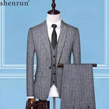 Мужские костюмы shenrun деловые вечерние для офиса банкета повседневной