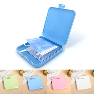 Fashion Portable Facemask Holder Face Mask Storage Box Case Save Mask Boxes caja para guardar mascarillas 7colors Boxes Storage