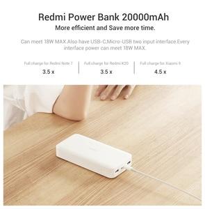 Image 3 - Nowy Xiaomi Redmi Power Bank 20000mAh przenośna ładowarka zasilacz podwójny USB C USB dwukierunkowe szybkie ładowanie bateria zewnętrzna
