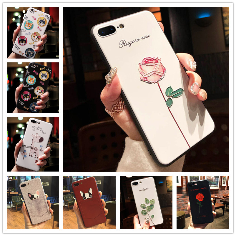 For <font><b>OPPO</b></font> F11 Cover 3d Emboss Flower Silicone Phone <font><b>Case</b></font> For <font><b>OPPO</b></font> Reno 10X Zoom F11 Pro RX17 Neo F7 F9 A1K AX7 Realme 3 <font><b>A39</b></font> a3s image