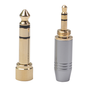 6.35mm Male to 3.5mm Female Plug with 3.5mm Screw Jack Headphone Audio Adapter Audio Video Cable Adapter Locking Cable