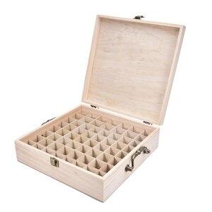 62 слот деревянные эфирное масло для хранения ящик из твердой древесины чехол держатель большой Ёмкость ароматерапия эфирное масло космети...