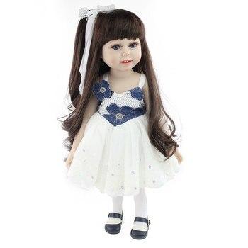 18 Inch Reborns Toddler Princess Real Like Art Dolls Infant Birthday Gift Newborn Baby Dolls Silicon Dolls