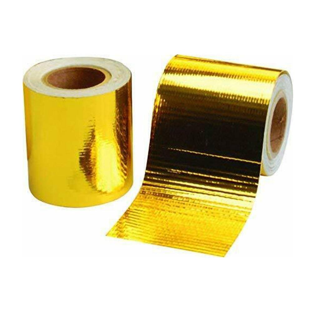 "Performance Reflect A Gold Exhaust Manifold Heat Wrap Reflective Tape 20/"" x 20/"""