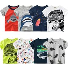 Clothing T-Shirt Short-Sleeves Lion Monkey Print Toddler Girls Baby Cartoon-Animals Kids Boys