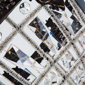 Image 4 - Ретро Винтаж Большой Круглый Французский Стиль Ампир led E14 хрустальная люстра современный 6 огней блеск лампа для гостиной лобби отеля