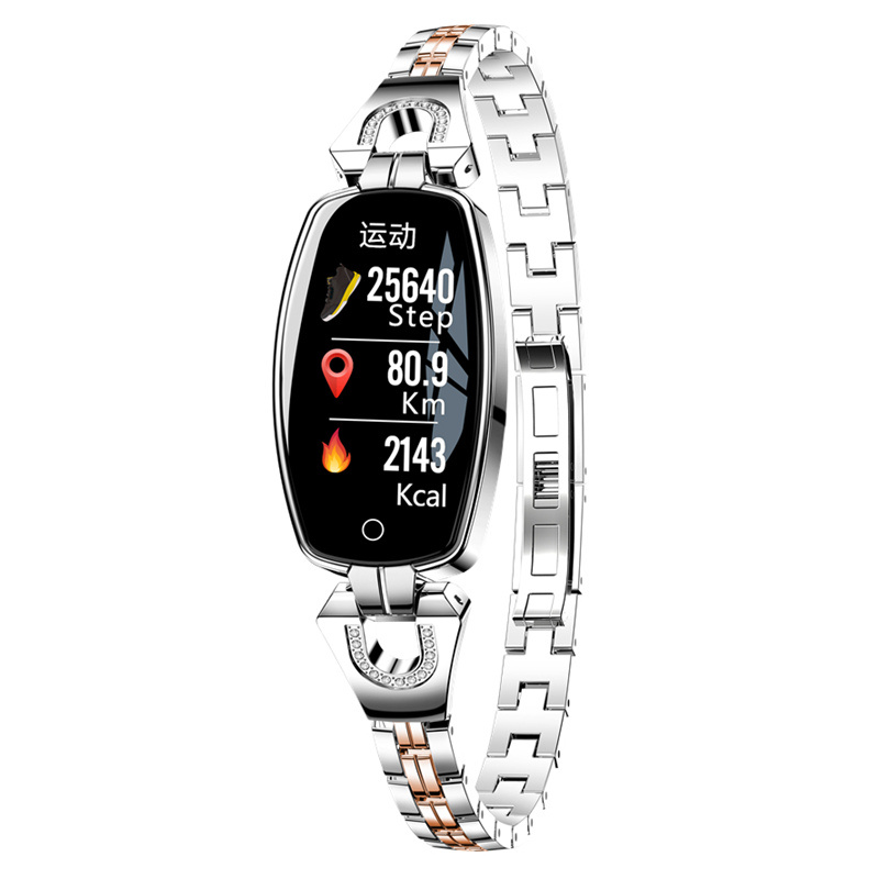 FROMPRO Women Fashion Band H8 Smart bracelet Blood Pressure Heart Rate Monitor Pedometer Fitness Tracker Watch For Android IOS