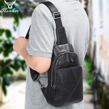 все цены на Flanker genuin leather chest bag for men fashion patchwork designer messenger bag luxury brand shoulder crossbody bag chest pack онлайн