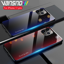 New Textured Colorful Phone Case For iPhone 11 Pro XS XR 7 8 6 6S Plus Tempered Glass Back Cover Max