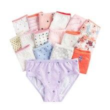 (24Pieces/lot) 100% Cotton Girls Underwear Chirdren Briefs  Panties  Kids Underwear 2 12 Years