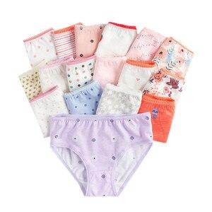 Image 1 - (24Pieces/lot) 100% Cotton Girls Underwear Chirdren Briefs  Panties  Kids Underwear 2 12 Years