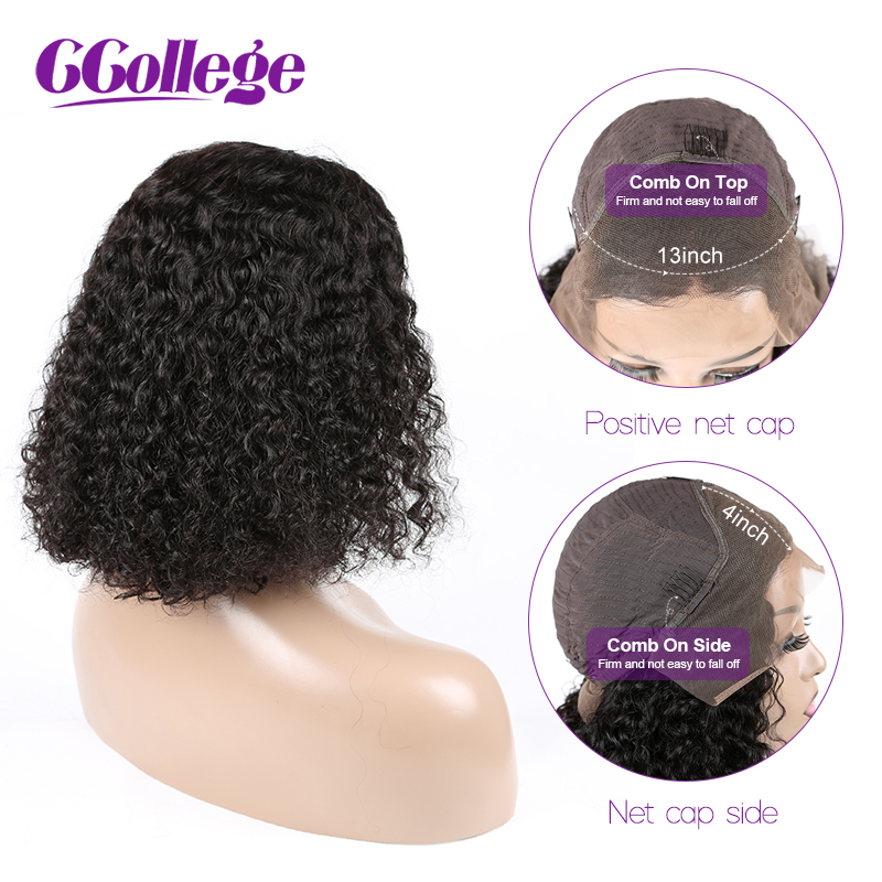 Mongolian Afro Kinky Curly Wig ShorT Bob Lace Front Human Hair Wigs For Black Women Pre