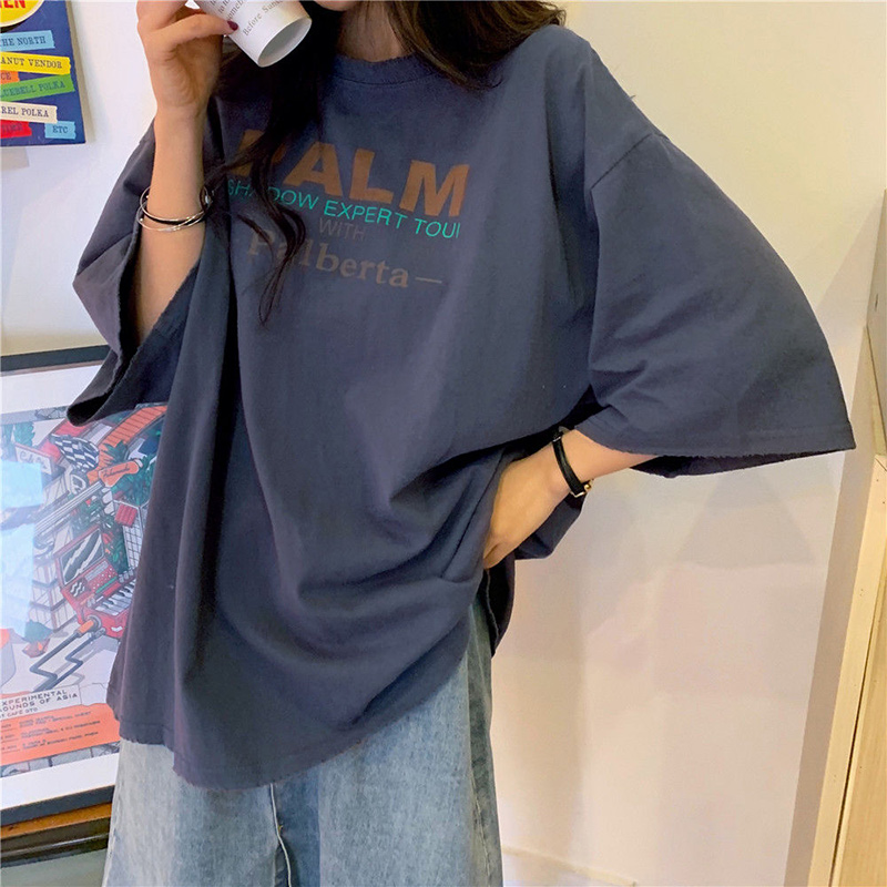 Women Summer Casual T-shirts New 2020 Fashion Korean Style Streetwear Harajuku T Shirt Female Loose Cotton Tops Tees P346