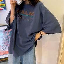 Frauen Sommer Casual T-shirts Neue 2020 Mode Koreanische Art Street Harajuku t-shirt Weibliche Lose Baumwolle Tops Tees P346