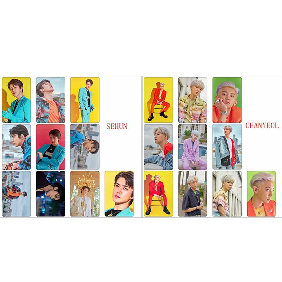 Kpop EXO SC Photo Stikcy Card Baekhyun HD Photocard Stickers Chanyeol What a Life Crystal Card