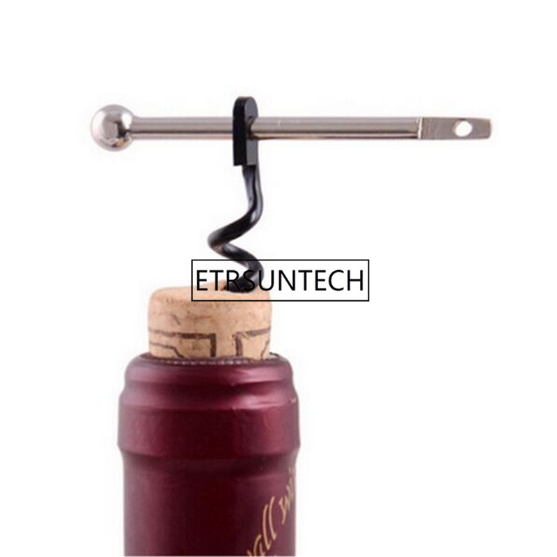 200Pc Portable Easy Wine Opener Mini Stainless Steel Metal Corkscrew Bottle Corkscrew Double Hinged Outdoor Keychain Wine Opener