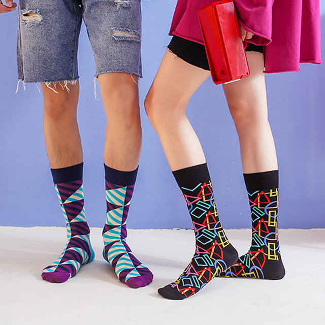 Happy Socks 44 Designs Colors Striped Plaid Diamond Cherry Socks 4