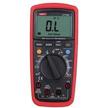 Multímetro digital de alta precisão, unidade ut139e multímetro digital autêntico faixa automática ncv capacitância 6000 contagem de frequência lpf ut139s