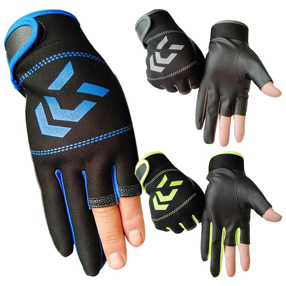 Unisex Breathable Anti-slip 3 Fingers Protective Gloves for Outdoor Fishing Gloves Motorcycle Protective Gears Motocross Gloves image