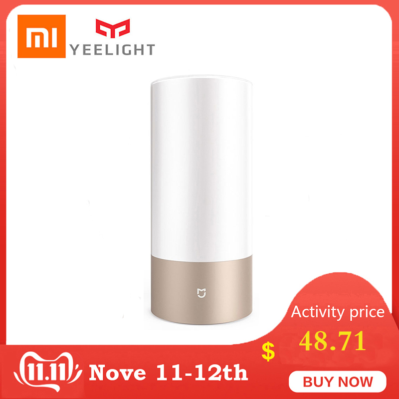 Yeelight Xiaomi Bedside Lamp MJCTD01YL LED Light Table Desk Lamp Smart Light Touch Control Bluetooth Connection for MiHome APP-in Smart Remote Control from Consumer Electronics