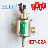 Erikc HEP-02A universal diesel gasolina 12 v bomba de combustível elétrica hep02a baixa pressão a maioria do carburador carro motocicleta atv