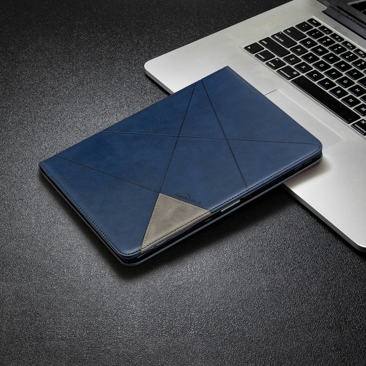 Blue Black Case For iPad Pro 12 9 2020 2018 With Wallet Holder PU Leather Cover Silicone Soft