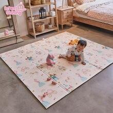 Блестящий коврик для младенцев детский игровой пазл из пены