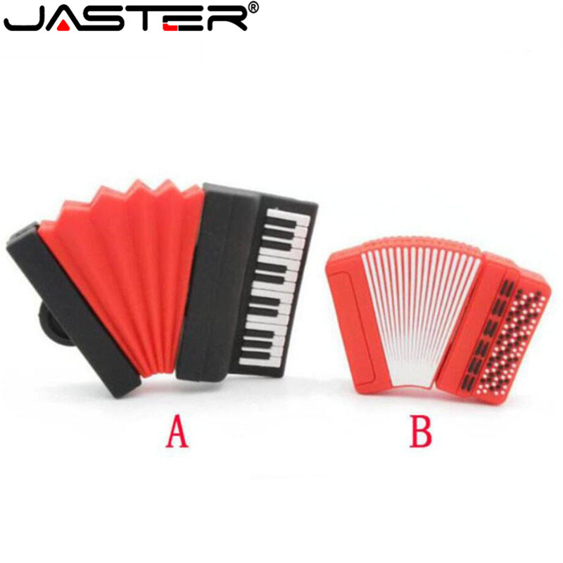 JASTER Creative Cartoon Musical Instrument Accordion USB Flash Drive 2.0 Hot Selling USB  4GB 8GB 16GB 32GB 64GB Memory Stick