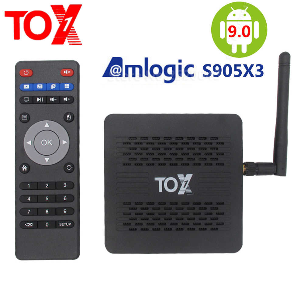 2020 TOX1 Amlogic S905X3 חכם אנדרואיד 9.0 טלוויזיה תיבת 4GB RAM 32GB ROM 2.4G 5G WiFi bluetooth 1000M LAN USB 3.0 4K HD סט top Box