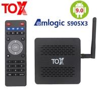 TOX1 Amlogic S905X3 Smart Android 9.0 TV Box 4GB RAM 32GB ROM 2.4G 5G WiFi Bluetooth 1000M LAN 4K HD Set top Box Youtube Netflix