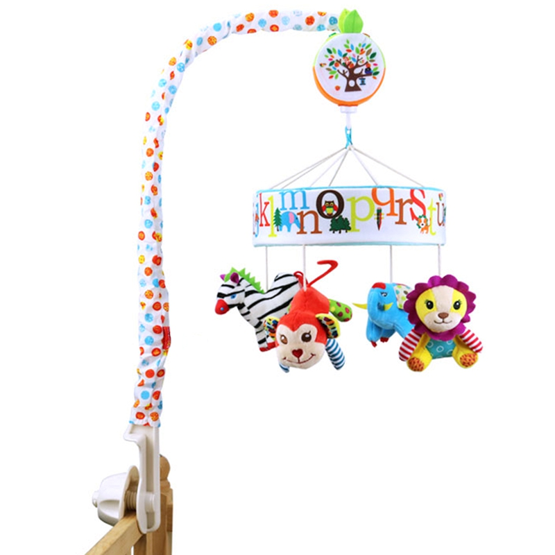 Baby Toys Baby Mobile Crib Money Zebra Musical Box With Holder Arm Music Newborn Rotating Bed Bell Toy