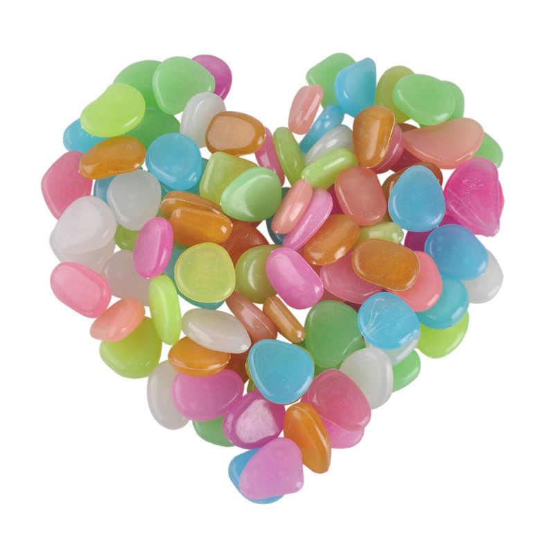 Hot Fish Tank Pebble แผนที่แจกันดอกไม้หม้อตกแต่งสระว่ายน้ำ Glow in the Dark Stones กลางแจ้ง Pebble Luminous rocks